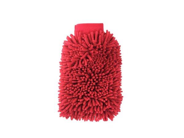 Mikrofaser Auto Wasch Handschuh XL Chenille beidseitig, rosa/rot Waschhandschuh