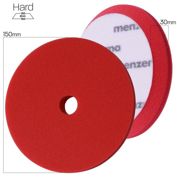 Menzerna Heavy Cut Foam Pad PREMIUM - 150 mm - rot