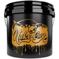 Nuke Guys Golden Bucket Set - GritGuard Wascheimer 3,5 Gallonen und GritGuard Eimereinsatz  in Gold