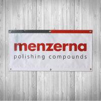 Menzerna Banner weiß 100x50cm