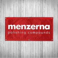 Menzerna Banner rot 100x50cm