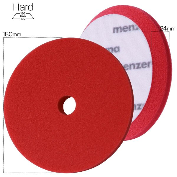 Menzerna Heavy Cut Premium Pad - 180 mm - red