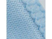 Mikrofasertuch für die Glasreinigung, enge Mikrofaserstruktur, 40x40cm, 270 GSM, abgenäht, blau