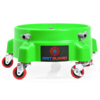 Grit Guard Black 5 Caster Bucket Dolly with decal