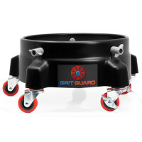 Grit Guard Black 5 Caster Bucket Dolly with decal schwarz