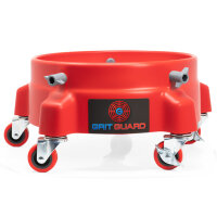 Grit Guard Black 5 Caster Bucket Dolly with decal rot
