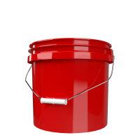 GritGuard Wascheimer 3,5 GAL (13 l) ohne Aufdruck rot